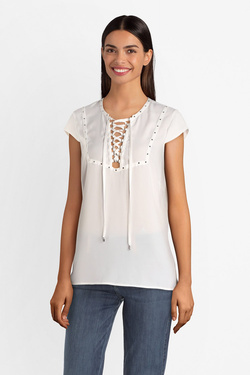 Blouse GUESS W93H81WAF20 SS PEGGY TOP Blanc
