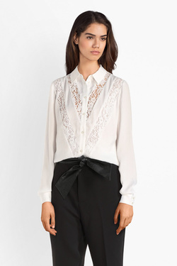Chemise manches longues GUESS W93H59W3TO1LS NIRA SHIRT Blanc