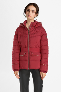Doudoune GUESS W94L0HW6NV0 RAINA JACKET Rouge bordeaux