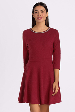 Robe GUESS W94K85K9630 ORNELLA DRESS Rouge bordeaux