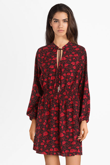 guess robe rouge et blanc