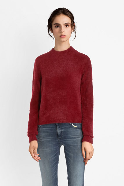 Pull cropped en maille poilue GUESS