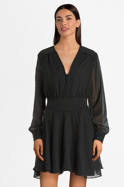 Robe GUESS W01K73WCLR0 IRSA DRESS Noir