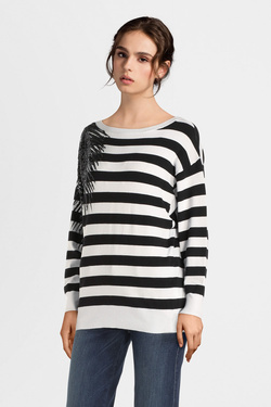 Pull GUESS W01R0HZ2760 EDITH SWEATER Blanc