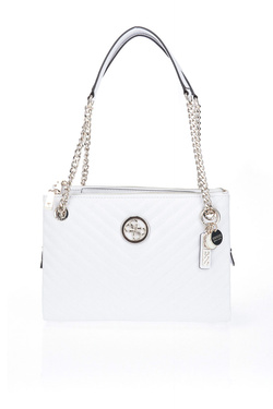 Sac GUESS BLAKELY STATUS LUXE SATCHEL Blanc