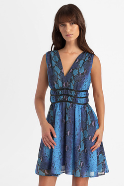 Robe GUESS W0GK24WBOX0  GINNY DRESS Bleu
