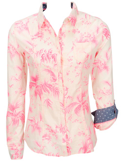GUESS Chemise manches longues rose W51H20 W63X0
