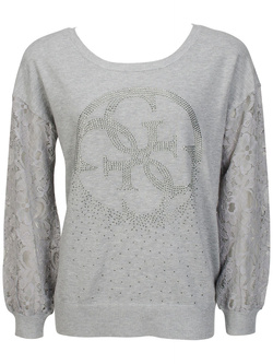 GUESS Pull gris W52R05 Z1100