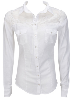 GUESS Chemise manches longues blanc W52H10 W6GE0