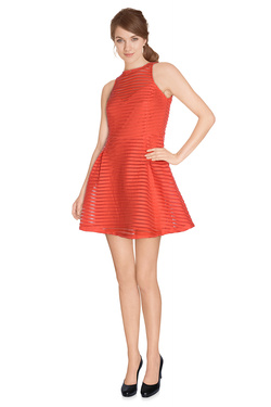 Robe GUESS W61K58 K4EC0 Rouge