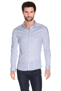 GUESS - Chemise manches longuesM61H30 W7610Bleu