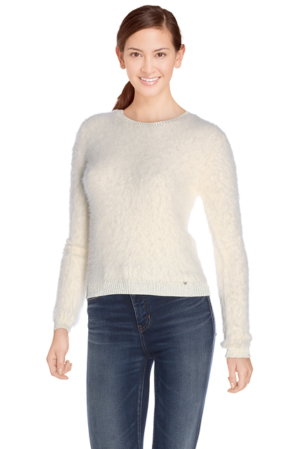 PULL COURT EN MAILLE DUVETEUSE GUESS