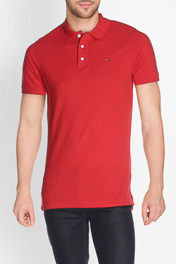 Polo HILFIGER DENIM DM0DM00488 Rouge