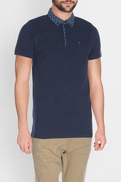 Polo HILFIGER DENIM DM0DM01816 Bleu marine