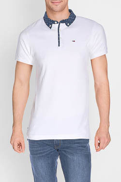 Polo HILFIGER DENIM DM0DM01816 Blanc