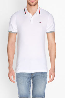 Polo HILFIGER DENIM DM0DM01818 Blanc