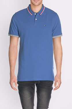 Polo HILFIGER DENIM DM0DM01818 Bleu