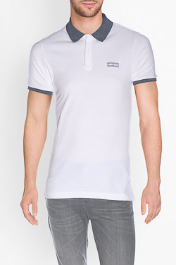 Polo HILFIGER DENIM DM0DM01815 Blanc