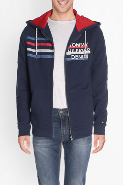 Sweat-shirt HILFIGER DENIM DM0DM02767 Bleu foncé