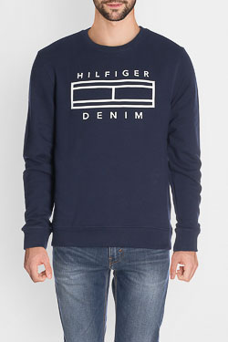 Sweat-shirt HILFIGER DENIM DM0DM03071 Bleu foncé