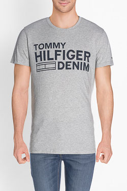 Tee-shirt HILFIGER DENIM DM0DM02192 Gris clair
