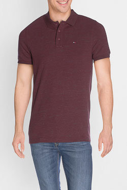 Polo HILFIGER DENIM DM0DM02772 Rouge bordeaux