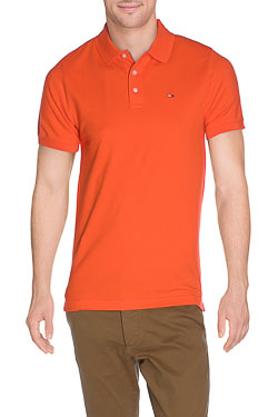 HILFIGER DENIM - PoloTHDM BASIC POLO 1Orange