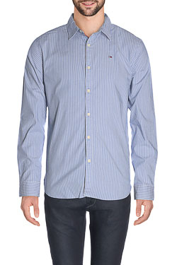 HILFIGER DENIM - Chemise manches longuesBASIC STRIPED STRETCH SHIRTBleu ciel
