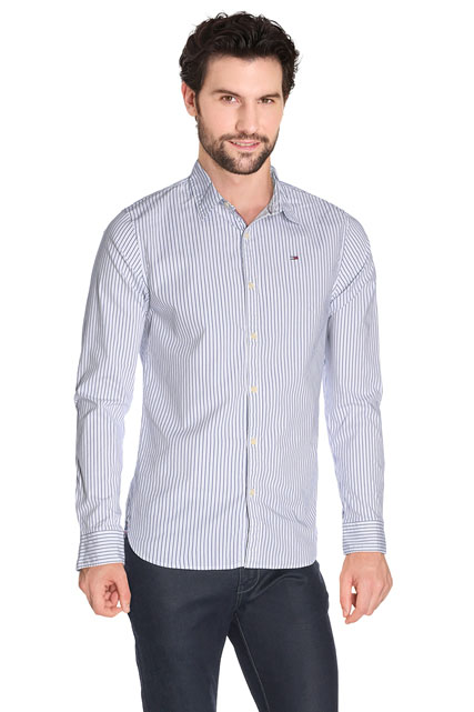 CHEMISE EN COTON STRETCH FINES RAYURES HILFIGER DENIM