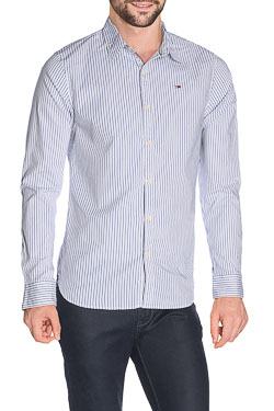HILFIGER DENIM - Chemise manches longuesBASIC STRIPED STRETCH SHIRTBlanc