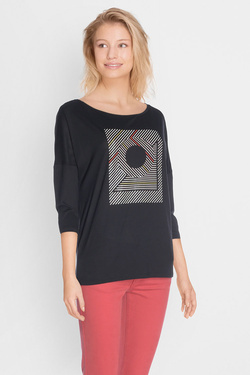 Tee-shirt manches longues I CODE BY IKKS QK10134 Noir