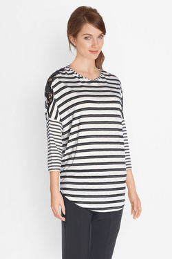 Tee-shirt manches longues I CODE BY IKKS QK10014 Noir
