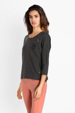 Tee-shirt manches longues I CODE BY IKKS QM10064 Gris
