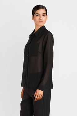Chemise manches longues I CODE BY IKKS QM12314 Noir