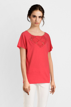Tee-shirt I CODE BY IKKS QN10074 Rouge