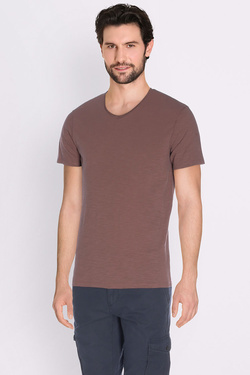 Tee-shirt IKKS MJ10153 FLAMME Brique