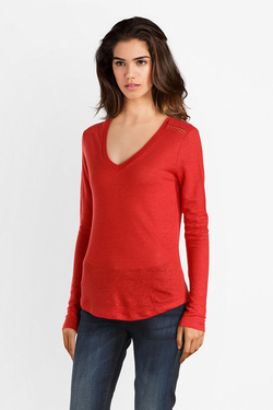 Tee-shirt manches longues IKKS BM10525 Rouge
