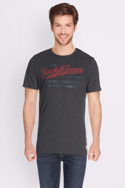 Tee-shirt JACK AND JONES 12129057 Gris foncé
