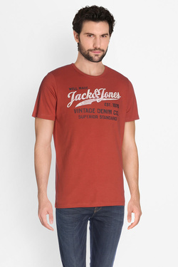 Tee-shirt JACK AND JONES 12129057 Rouge