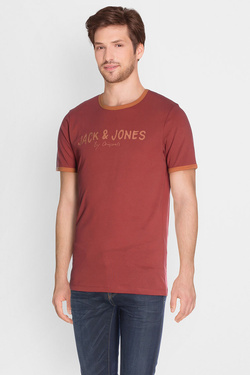 Tee-shirt JACK AND JONES 12126319 Rouge bordeaux