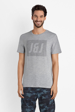 Tee-shirt JACK AND JONES 12132173 Gris clair