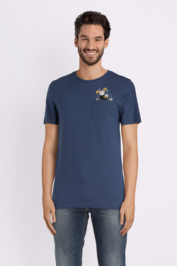 Tee-shirt JACK AND JONES 12133786 Bleu marine