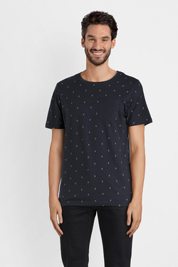 Tee-shirt JACK AND JONES 12134851 Bleu marine