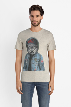 Tee-shirt JACK AND JONES 12132533 Gris