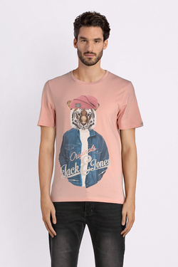 Tee-shirt JACK AND JONES 12132533 Rose