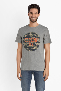 Tee-shirt JACK AND JONES 12133840 Gris clair