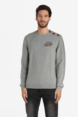 Pull JACK AND JONES 12132520 Gris clair