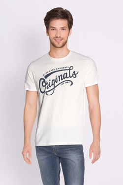 Tee-shirt JACK AND JONES 12135576 Blanc