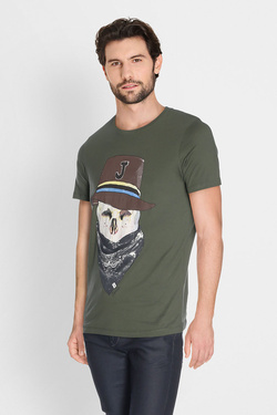 Tee-shirt JACK AND JONES 12135808 Vert kaki