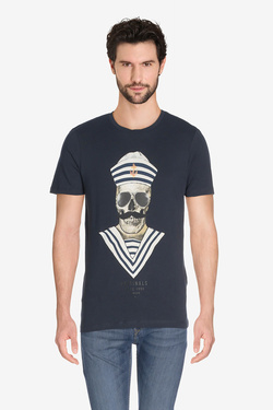 Tee-shirt JACK AND JONES 12135808 Bleu marine